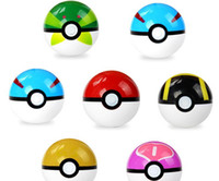 Wholesale 7CM Poke Ball Pikachu Pop Up Monster Children Kids Cartoon Cosplay ABS Action Anime Figures Toys Gifts Style