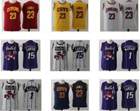Wholesale Youth Kids James Carter McGrady Yellow Purple Red Yellow White Youth Kids Cheap jersey Top Quality Drop Shipping jerseys