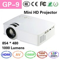 Wholesale 2016 Newest GP9 MINI Projector Lumens HD D Beamer Proyector Proektor Home Theater Portable HD Video HDMI USB AV SD