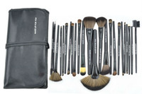 badger case - Make up for You Brushes Cosmetic Brushes Fashion Brand Fibre Makeup Tools Artificial Fiber Cosmetic Brush with Roll Up PU Case pieces set