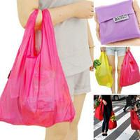 Wholesale Different high quality oxford cloth Baggu Tote Bags Reusable Shopping Bag Portable Folding Pouch Lunch Bag Purse Handbag Enviorment Safe