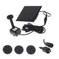 Wholesale 2015 New set Solar Power Water Pump Garden Sun plants watering outdoor water Fountain Pool Pump