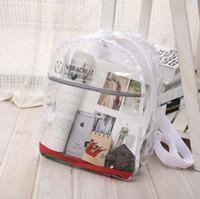 Wholesale Hot NEW Transparent PVC Clear Plastic Waterproof Backpack for Teenage Girls PVC School Bags Shoulders Bag