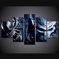 alien poster - 5 Set No Framed HD Printed Alien Wars Alien Movie Painting Canvas Print room decor print poster picture canvas mural painting