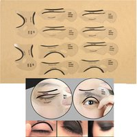 Wholesale Makeup Cat Eyeliner Shaper Smokey Eye Models Card Stencil Template Tool