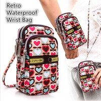 Wholesale New fashion Sports Bags Women Bags Coin Purses lovely neck hung zero wallet three layer waterproof wrist small bag zipper B0343