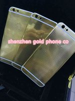 apple iphone supply - for iphone5s real gold plated patten back door For Iphone s real ct Gold WITH LASER ENGRAVING plated housing factory supply