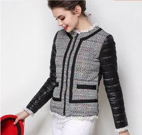 Wholesale Elegant small fragrant autumn feather short thin wool jacket female stitching
