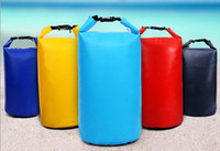 Wholesale 10L canoe kayak rafting sports dry bag waterproof folding camping hiking fishing beach seamless storage bag