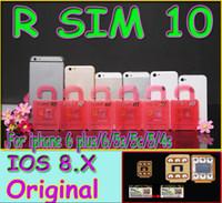 Wholesale Unlock Card R SIM RSIM R SIM directly for iphone plus s c iOS6 X X WCDMA GSM CDMA
