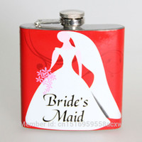 best liquor bottles - The bride bridesmaid best gift oz stainless steel hip flask mini pocket wine liquor whisky alcohol bottles