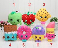 Cheap 7 styles 17-25cm Strawberry apple fruit Series Stuffed Animals cute fruit Plush Toys about 10 inches EMS With tag free shipping