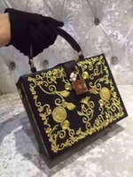 hard ten days - New style ten colors head calfskin real leather with diamonds embroidery flowers top A quality mini trunk obsedia luxury women handbag