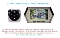 Wholesale Hot inch digital video peephole door bell with camera viewer eye support nightvision motion detection X zoom