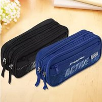 advance offices - Deli pencil case advanced canvas pencil bag blue black office school student stationery