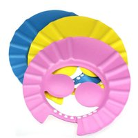 Wholesale Kids Baby Safe Hat Shampoo Shower Bathing Soft Cap with Ear Protection No need to close eyes when washing hair3 colors EC1176