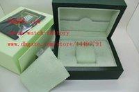 al por mayor fábrica de cajas de regalo-Surtidor de la fábrica original de la marca verde papeles de las cajas Cajas regalo mira el bolso de cuero de la tarjeta * 185mm 134 mm * 84 mm 0,7 kg Para 116610 116660 116710 Reloj