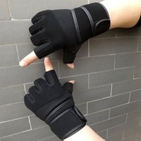 Wholesale 2016 Cycling gloves Outdoor riding sports Weightlifting Fitness breathable wrist gym dumbbell armguard palm Training baseball gloves