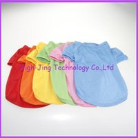Wholesale Fashion Candy color solid polo t shirt for pet dog vest spring and summer jacket clothing