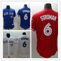 Baseball Men Short Mens Flexbase Toronto Blue Jays Majestic 6 Marcus Stroman Authentic Jersey Cheap Blue White Red Stitched Jerseys