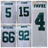 bart starr throwback jersey - Packers Brett Favre RAY NITSCHKE Bart Starr reggie white Throwback th Patch Men s Jerseys Mix Orders size M XXXL