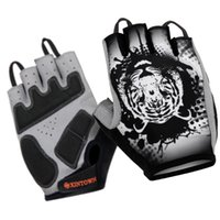 Wholesale Outdoor Sport Cyclist Printing HandWear Men Women Half Finger Non slip Cycling Foam Pad Gloves For Gym Fitness Exercise
