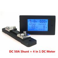 Wholesale DC V A Digital Voltmeter Ampermeter LCD in DC Voltage Current Power Energy Meter Detector with DC A mV Shunt