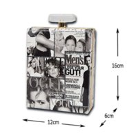 acrylic lock box - Women s Shoulder Bags Perfume Bottle Shape Bag Clear Acrylic Box Plastic Women s Clutches Perspex Handbag Printing Chain Bag
