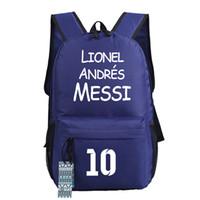 barcelona messi kids - Barcelona messi backpacks waterproof sport bags kids schoolbag for teenage girls boys bookbags designer backpack printed
