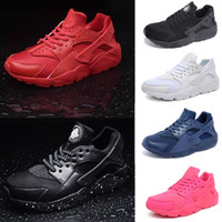 air laces - Authentic Classic Original Air Huarache Triple Men Women Running Shoes Black Red White NavyBlue Pink Breathable Sneakers Accepted