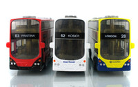 big red bus - Alloy Car Model Toy London Bus Classic Coach Model High Simulation with Sound Head Lights Kid Christmas Gifts Collecting Home Decoration