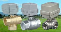 Wholesale Whole sale Motorized Ball Valve quot AC110V V Brass Normally Closed Way CR5 Five Wires Electric Ball Valve
