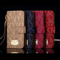Cheap Hot Sale Fashion Luxury Gold M Flip Wallet Leather Case for iPhone 6 6s plus 5S SE Galaxy S7 S6 edge plus Note 5 4 phone bag cover case
