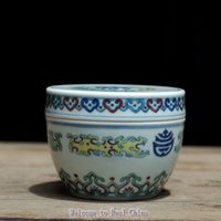 antique porcelain jar - Full Manual Constracting Colors Dragon Pattern Tea Caddy Small Size REAL CHINA Porcelain Hand Paint Antique Ceramic Storage Jar Tea Set