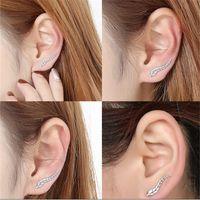 Wholesale Women Lady Fashion Metal Leaves Earrings Stud Statement Earrings Party Jewelry Earrings Valentine Gift Colors