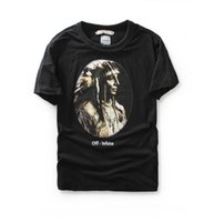 america ink - superior quality The new summer in Europe and America off white Indian head neck T shirt and ink tide