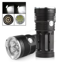 Wholesale 3 Modes Lumens Waterproof x Cree XM L T6 LEDs Super Bright Led Flashlight Flashlights Torch for Camping LEF_027