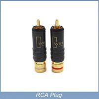 audiophile rca - 4pcs High Performance Audiophile Gold Plated RCA Plug