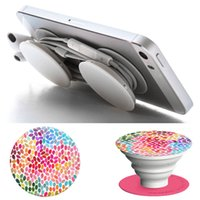 Wholesale New Desgin PopSockets Without logo Expanding Stand and Grip Card holder phone holderfor for Smartphones and Tablets For Iphone DHL OTH284