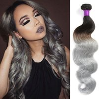 Cheap 8A HOT Sale Silver Grey Ombre Human Hair 4 Pcs 1B Grey Body Wave Hair Brazilian Virgin Hair Grey Ombre Weave