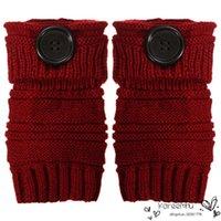 arm warmers wool - 2016 Limited Sale Spring Autumn Women Wool Wrist Arm Warmers Winter Fashion Fingerless Gloves Button Knitted Mittens Leng Half Finger Glove