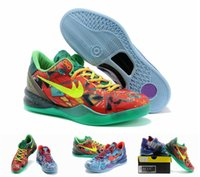 Wholesale New Cheap Newest Kobe VIII Basketball Shoes For Men High Quality Sneakers Outdoors Athletics Shoes Eur Szie