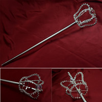 Wholesale Scepter Crown Three Dimenshional Pageant Bridal Beauty Queen Winner Cosplay Party Accessories Crystal Crown Scepter Mk027