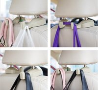 beige car interior - Beige Black convenient vehicle car car seat headrests Bag hook holder clip hook automotive supplies Interior Accessories