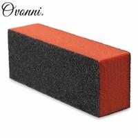 abrasive sponge pads - Professional Carbide Abrasive Drywall Sponge Sanding Pad Black There Sides Manicure Care Nail Art Buffer
