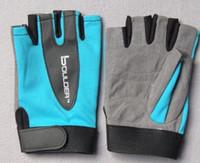 Wholesale 2016 Hot Sale Half Finger Sports Gloves Fitness Gloves Slip Resistant Exercise Training Gym Gloves For Men And Women Summer and Winter