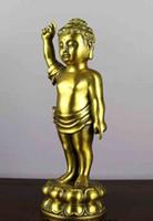 bathing brass - 10 inch China brass copper Sakyamuni Tathagata Station Boy Buddha bathing Statue