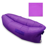 Wholesale 9 Colors Fast Inflatable Sleeping Bag Seconds Quick Open Lazy Sleeping Bed Folding Sofa Beach Sleep Bed Outdoor Camping Air Sleep Sofa p