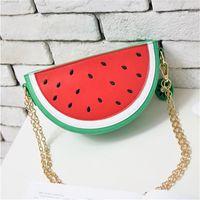 Wholesale Cute Cartoon Fruit Watermelon Bag Package New Small Fresh Lemon Chain Small Bag Shoulder Diagonal