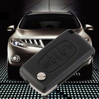 Wholesale Black Uncut Button Remote Car Key With ID46 Chip MHz For Peugeot Key hot selling